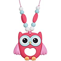 Munchables Chewelry - Owl Sensory Chew Necklace (Honeysuckle) by Munchables Chewelry