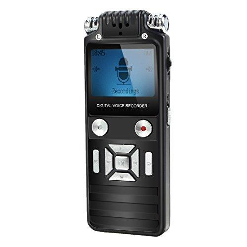 EIVOTOR ICレコーダ デジタルボイスレコーダー 8GB 1536kbps 小型 ミニ MP3音楽プレイヤー LCD付き 高音質 長時間連続録音 録音機 操作簡単 1年保証