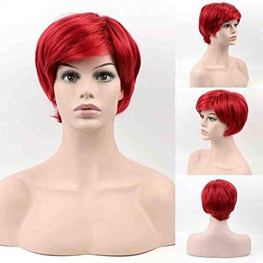 女性のための色のかつら、ロリータショートポニーテールコスプレウィッグ、高密度温度合成かつらコスプレヘアウィッグ、耐熱繊維ヘアウィッグ