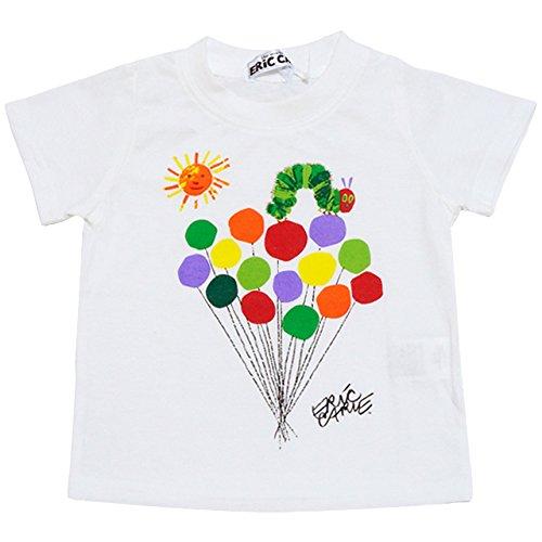 2017年 夏物 はらぺこあおむし 天竺 風船柄 半袖Tシャツ THE WORLD OF ERIC CARLE ホワイト◇95cm