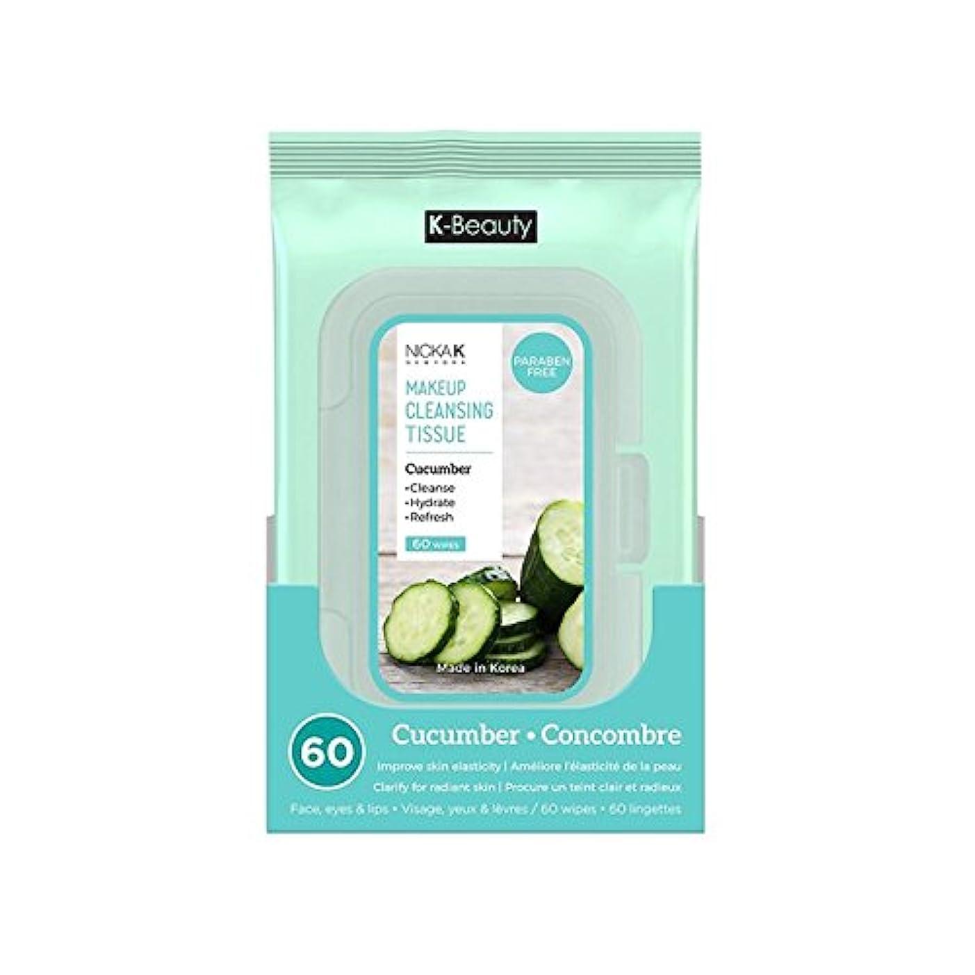 はねかけるオズワルド高める(6 Pack) NICKA K Make Up Cleansing Tissue - Cucumber (並行輸入品)