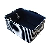 日本のキャンバス収納収納ボックス,2号開き35×25×17cm,ブルー