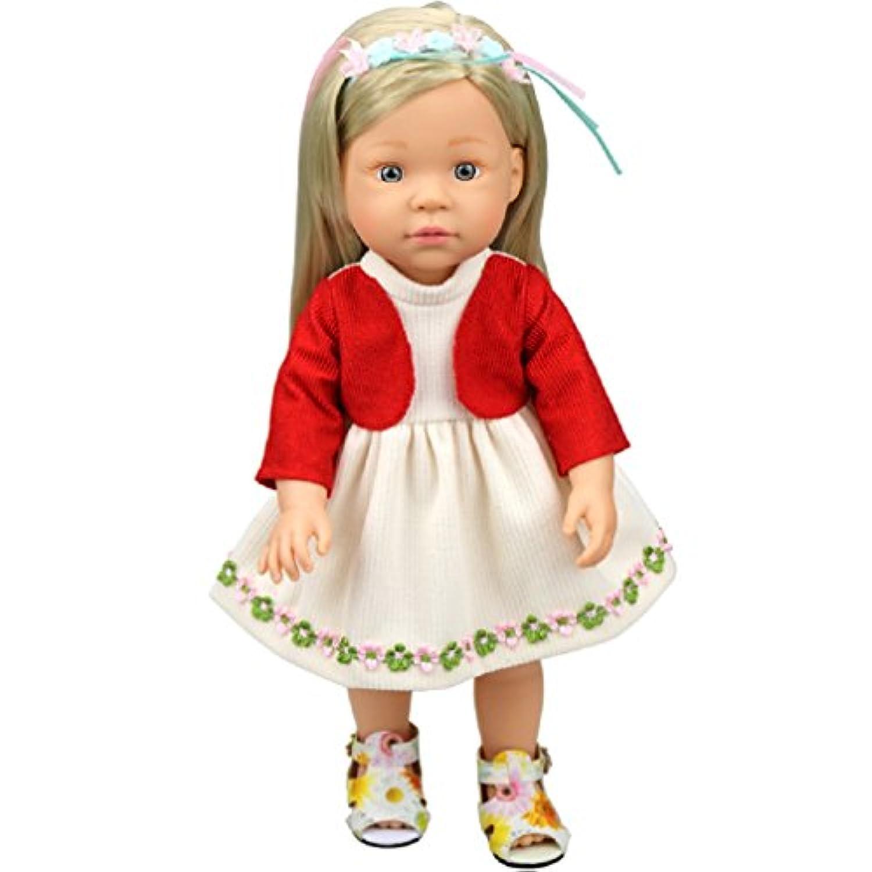 Shero 10 - 36cm Baby Doll's Dress One-Piece (Red)