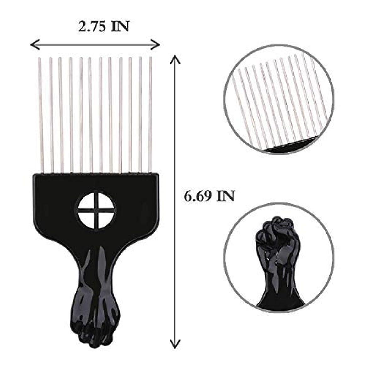 ちっちゃい性格十分ですAfro Hair Pik - Afro Styling Pick, Metal #2410: Untangle, Style, Lift (1 Pack), Hair style, lifts your hair, untangles...