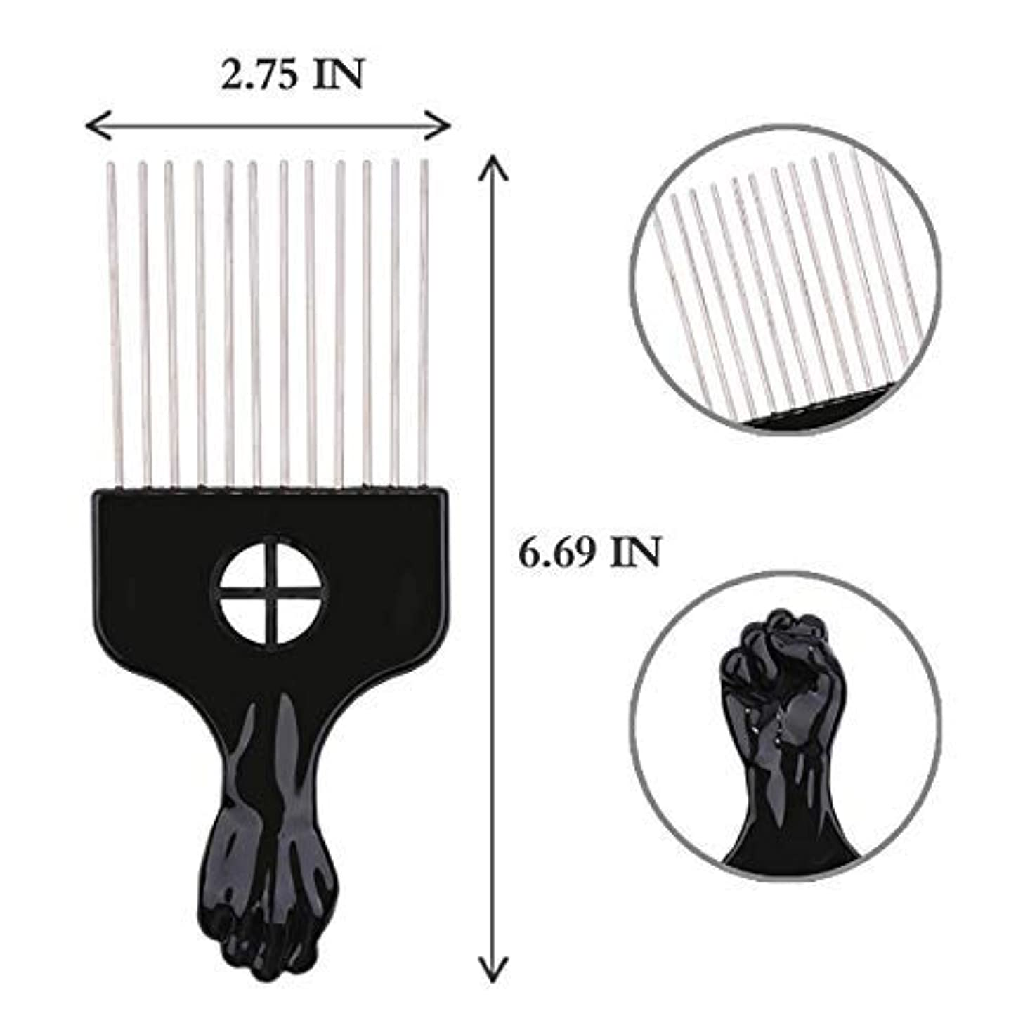 ビーズ現代のブロックAfro Hair Pik - Afro Styling Pick, Metal #2410: Untangle, Style, Lift (1 Pack), Hair style, lifts your hair, untangles...