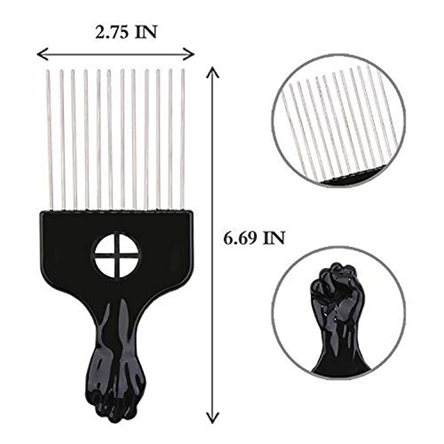 サラダ入場影響するAfro Hair Pik - Afro Styling Pick, Metal #2410: Untangle, Style, Lift (1 Pack), Hair style, lifts your hair, untangles...