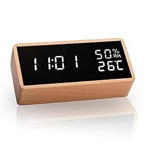 Meross 置き時計 目覚まし時計 大音量 記憶機能 USB給電式 電池給電式 アラーム 明るさ調整