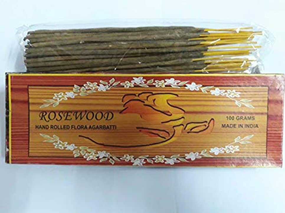 ふりをする硬化するバブルRosewood ローズウッド Agarbatti Incense Sticks 線香 100 grams Flora Incense Agarbatti フローラ線香