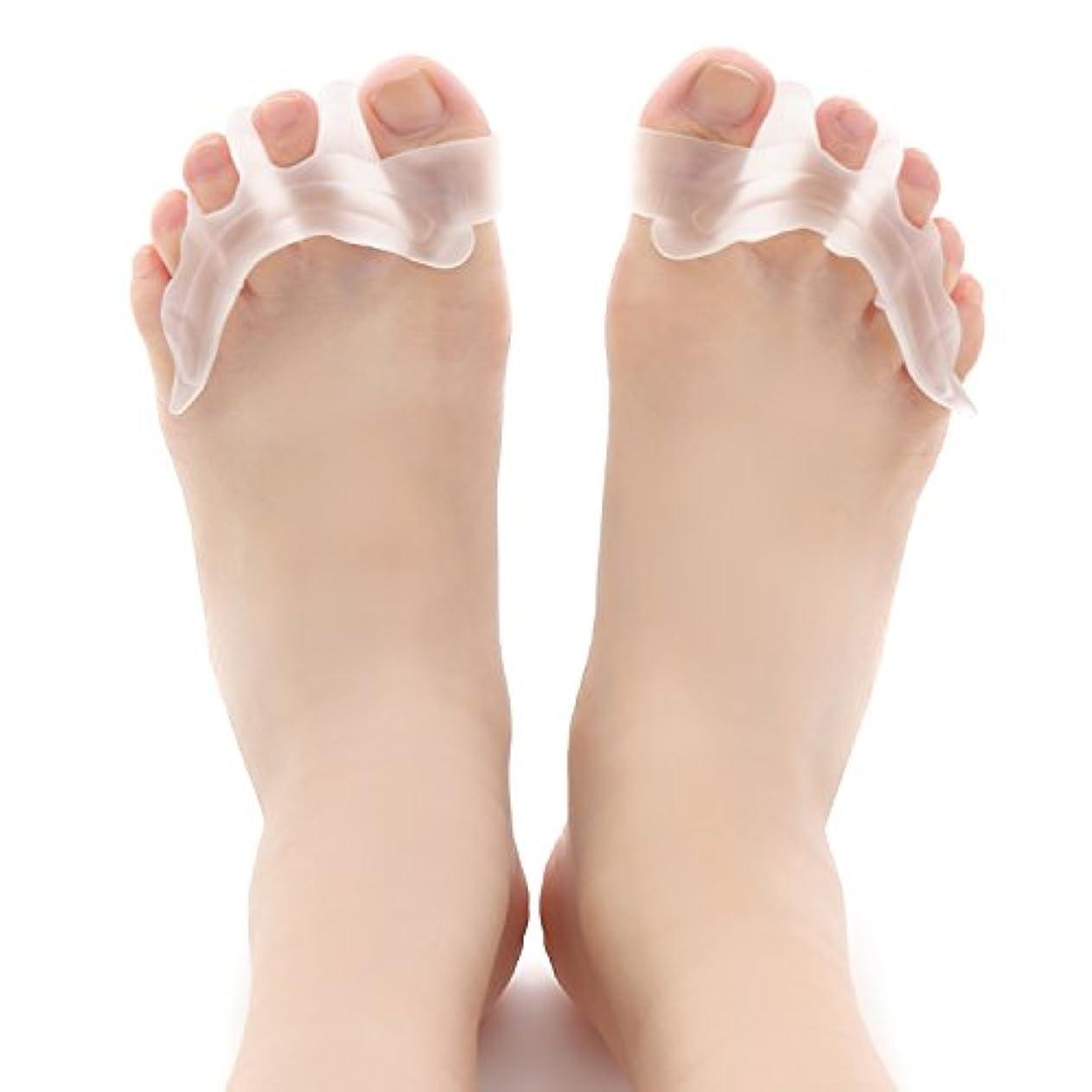 慈悲致命的な流行しているToby Soul【2ペア4個入り】足指サポーター 外反母趾 足指 広げる 矯正 シリコン素材 男女兼用