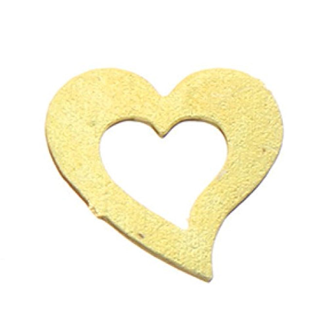 爆風餌皮メタルプレート(ネイルストーン デコ)ハート (30個入り) ゴールド(ネイル用品)