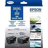 Epson 252XL Black & 252 Colour (C,M,Y) Ink Cartridges Value Pack
