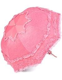 ピンクSweetレディース傘レース超軽量UV保護日焼け止め折り畳み傘