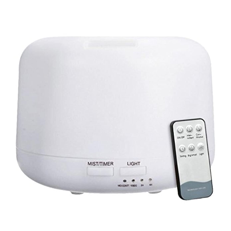 Homyl 300ML ポータブル 空気ディフューザ 超音波 加湿器 リモートコントロール USプラグ