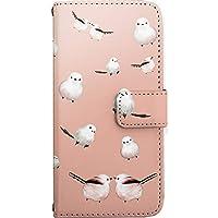 [ZI:L](ジール) AQUOS R SH-03J SHV39 605SH [LL] ケース 手帳型 スマホケース nban010a シマエナガ 鳥 ピンク カードタイプ スマホカバー 携帯カバー