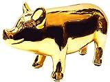 ブタの貯金箱 ピッグオブジェバンク ゴールド 27cm 金運 ブタ 貯金箱 ピギーバンク おもしろ 雑貨 インテリア おしゃれ ゴールド 金色 貯金箱 ブタ ぶた 豚 かわいい