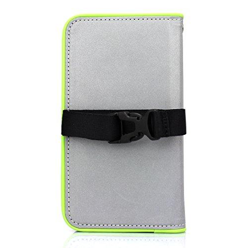 Fantastick iPhone X用 手帳型ケース Diary Reflector(Green)Fantastick Diary Case Reflector B06B957-A079-A3