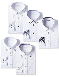 [アトリエサンロクゴ] ワイシャツ メンズ 長袖 5枚セット 形態安定 Yシャツ at-at101