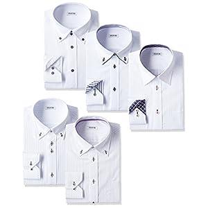 (アトリエサンロクゴ) atelier365 ワイシャツ 選べる6種類 5枚セット長袖 /at101-L-41-83-AT101-Hset-SM