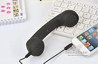 No brand BEST PHONE iPhone/ipadアクセサリー 受話器型ハンドセット 8カラー (ブラック)