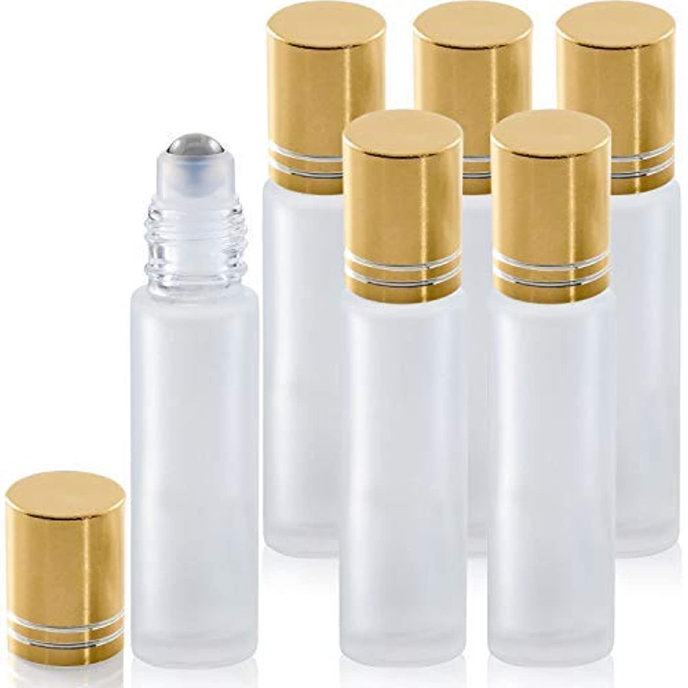 おんどりピークチューリップRioa 10ml(1/3oz) Cobalt Blue Glass Roller Bottles with Stainless Steel Roller Ball for Essential Oil - Include...