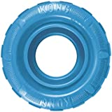 KONG - Puppy Tires - Soft Rubber Chew Toy and Treat Dispenser - for Medium/Large Puppies (Assorted Colours)