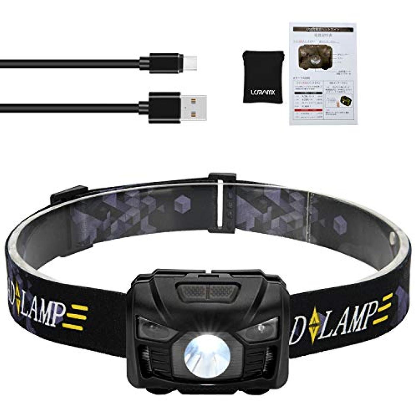 科学者かかわらず確保するLCRAMX USB充電式ヘッドライト ボディーセンサー6段階点灯モード IPX6防水仕様