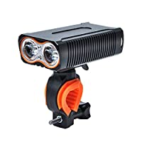 GZLMMY 自転車ライト led ヘッドライト 防水 usb充電 cree t6 高輝度 2000ルーメン 5200mah大容量電池 防災 バイク フロントライト 明るい 懐中電灯 (黒)