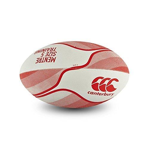 カンタベリー ラグビーボール 練習用5号 白 赤 CANTERBURY THRILLSEEKER CLASSIC BALL WHITE / RED [並行輸入品]