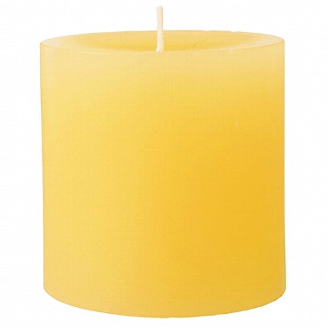 割るのど祖先カメヤマキャンドル(kameyama candle) 75×75ピラーキャンドル 「 アイボリー 」
