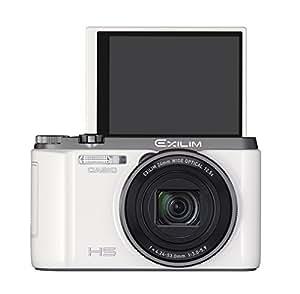 CASIO デジタルカメラ EXILIM EXZR1100WE 自分撮りチルト液晶 1610万画素 光学12.5倍ズーム EX-ZR1100WE ホワイト