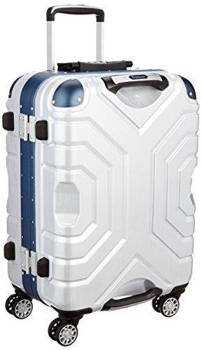 [シフレ] siffler スーツケース グリップマスター エスケープ 54cm 48L 4.7kg 小型サイズ TSAロック B5225T-54 ヘアラインホワイト/ブルー (ヘアラインホワイト/ブルー)