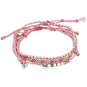 [ワカミ] wakami アンクレット 3 Strand Stone Anklets Pink WA-BC17015