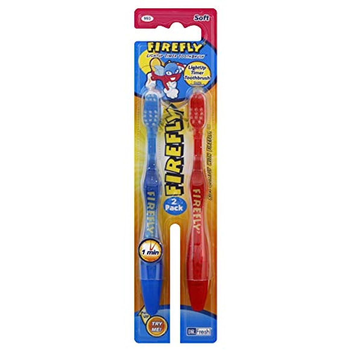 銀行空気体細胞Firefly サクションカップ2 EAでLightupタイマー歯ブラシ(色は変更になる場合があります)