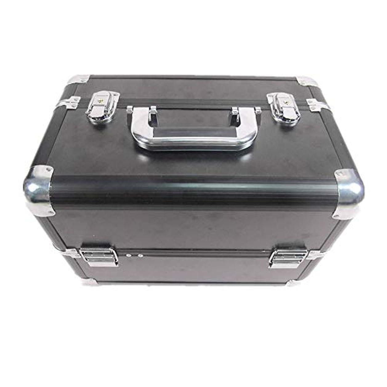 二度戻すステートメント化粧オーガナイザーバッグ 大容量ポータブル化粧ケース(トラベルアクセサリー用)シャンプーボディウォッシュパーソナルアイテム収納トレイ(エクステンショントレイ付) 化粧品ケース