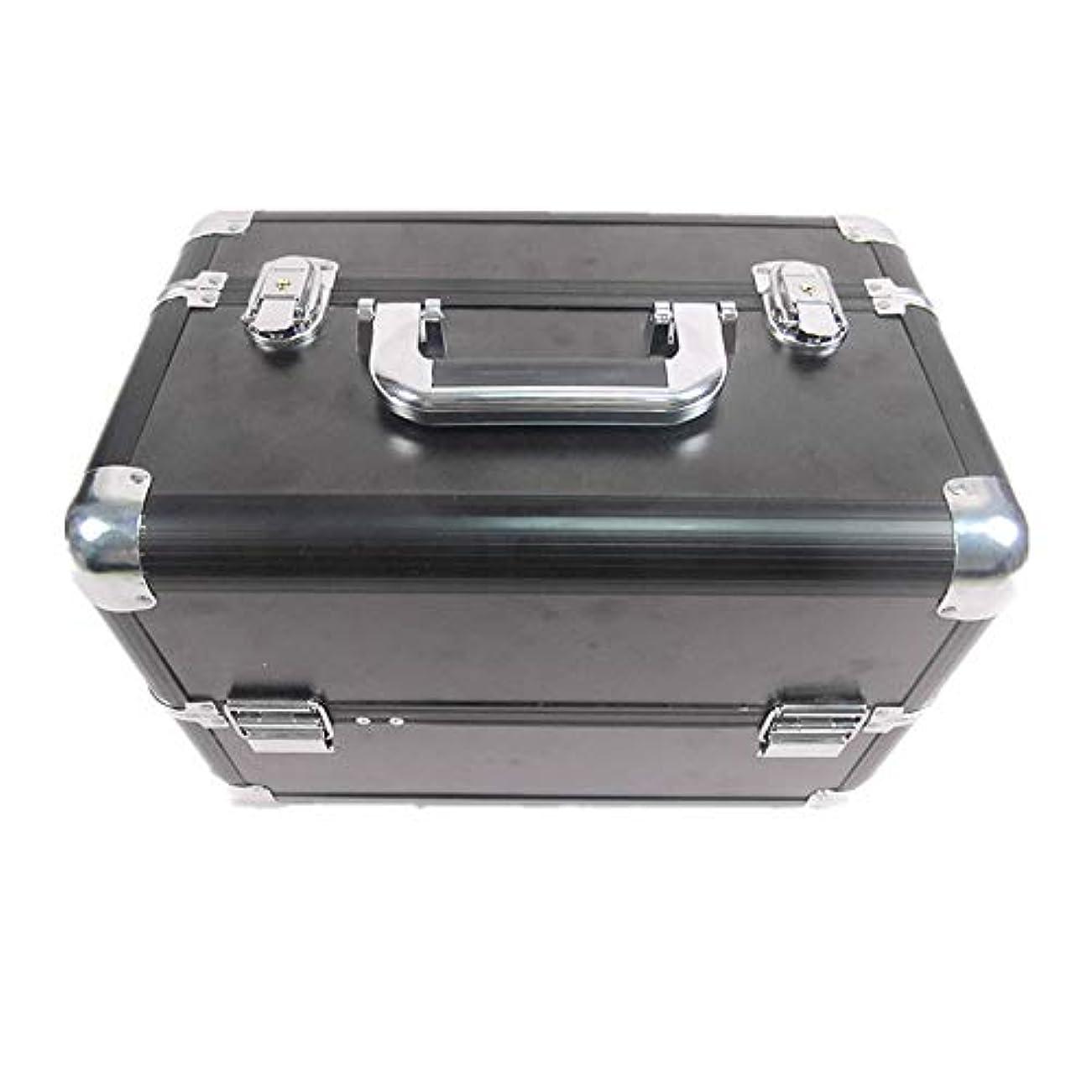 置き場首謀者威する化粧オーガナイザーバッグ 大容量ポータブル化粧ケース(トラベルアクセサリー用)シャンプーボディウォッシュパーソナルアイテム収納トレイ(エクステンショントレイ付) 化粧品ケース