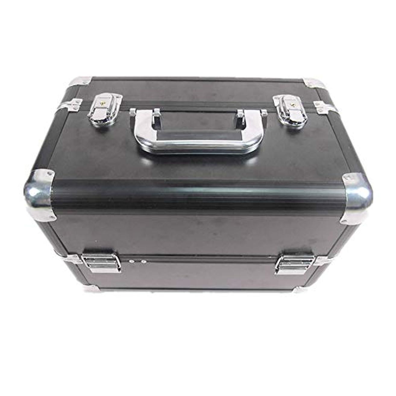 縞模様の著作権執着化粧オーガナイザーバッグ 大容量ポータブル化粧ケース(トラベルアクセサリー用)シャンプーボディウォッシュパーソナルアイテム収納トレイ(エクステンショントレイ付) 化粧品ケース