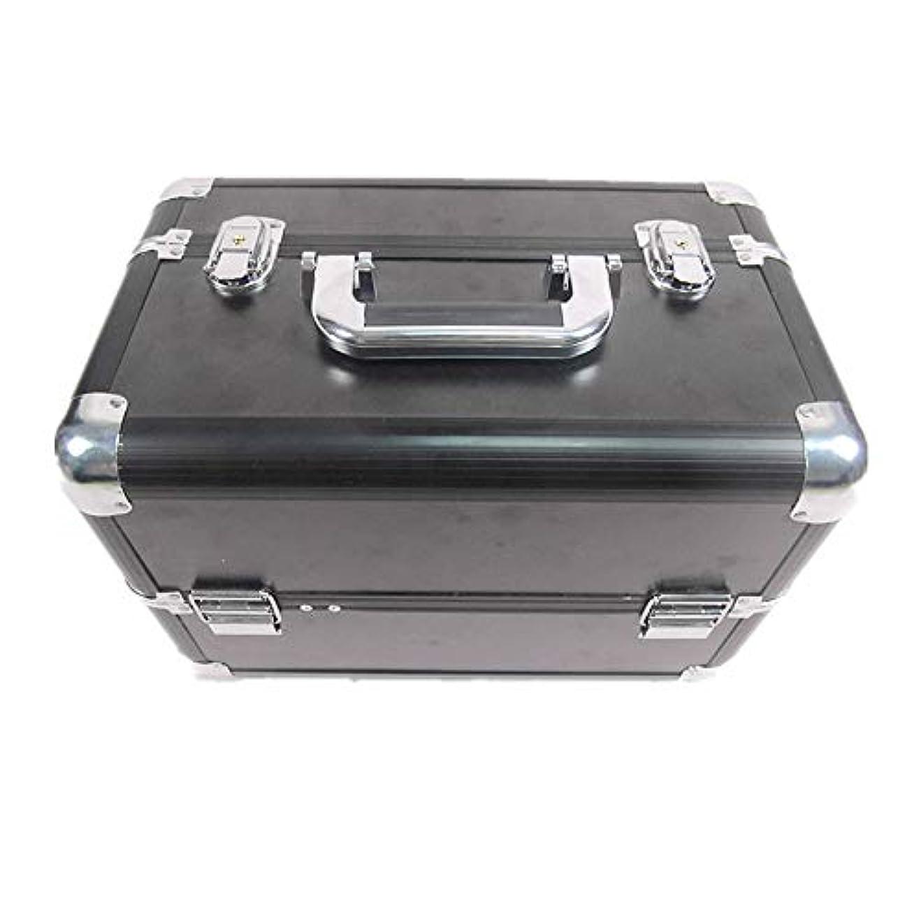 マイコン浅いコーデリア化粧オーガナイザーバッグ 大容量ポータブル化粧ケース(トラベルアクセサリー用)シャンプーボディウォッシュパーソナルアイテム収納トレイ(エクステンショントレイ付) 化粧品ケース