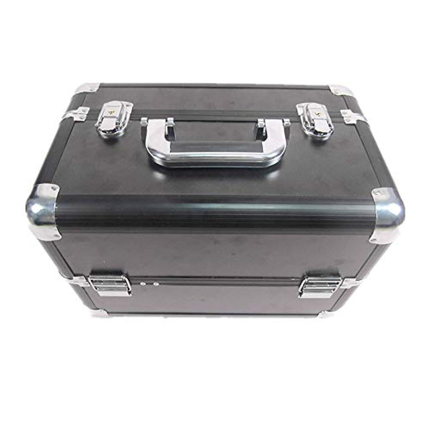 一定内陸買う化粧オーガナイザーバッグ 大容量ポータブル化粧ケース(トラベルアクセサリー用)シャンプーボディウォッシュパーソナルアイテム収納トレイ(エクステンショントレイ付) 化粧品ケース