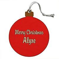 クリスマス Alyse ウッドクリスマスオーナメント