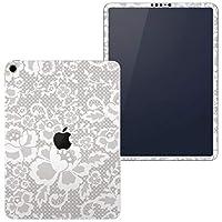 igsticker iPad Pro 11 inch インチ 対応 apple iPad Pro11 シール アップル アイパッド A1934 A1979 A1980 A2013 iPadPro11 全面スキンシール フル 背面 側面 正面 液晶 タブレットケース ステッカー タブレット 保護シール 人気 花 ガーリー 白 004578