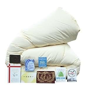 羽毛布団 シングル エクセルゴールド ホワイトダックダウン90% 日本製 (06361410)