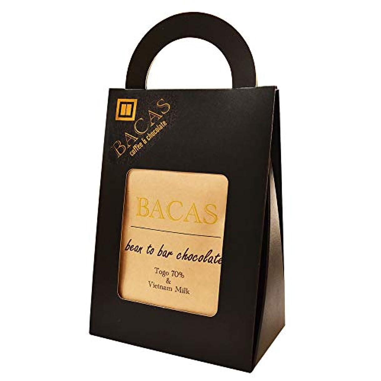 胃覚醒極めて重要なBACAS (バカス) ビーントゥバー チョコレート ギフトセット ハイカカオ 内祝い ホワイトデーのお返しお菓子に bean to bar chocolate (5袋セット)