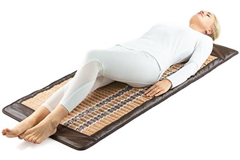 さらに写真を描く有限InfraMatPro®3 in 1ヒーリングセラピー - 赤外線ヒートパッド - 痛みを和らげ、痛みのある筋肉 - 関節炎と傷害の回復 - (ソフト&フレキシブル150 cm x 60 cm) - 調節可能な温度設定 - EMFなし - US FDA - 1年間の保証