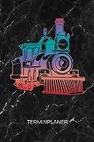 TERMINPLANER: Eisenbahnfreunde Kalender Schienenverkehr Terminkalender - Eisenbahn Wochenplaner Dampflokomotive Wochenplanung Vintage Taschenkalender Oldschool To-Do Liste Termine