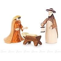 誕生および付属品の神聖な家族は (3) x の深さ 2.5 cmx7,5 cmx2,5 cm の鉱石山のクリスマスの装飾のテーブルの装飾の幅 X の高さを着色しました