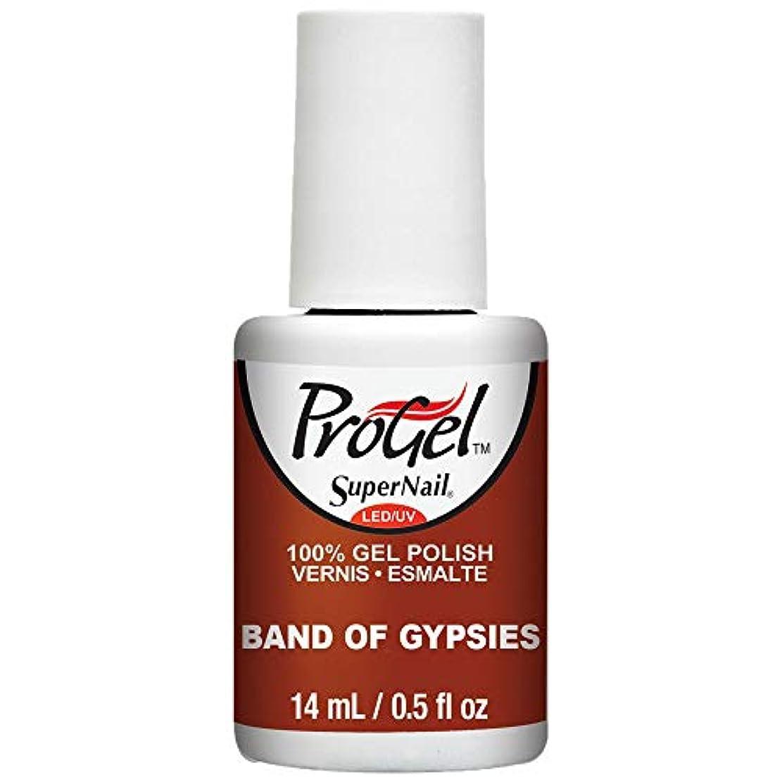 服を洗うもろい余剰SuperNail ProGel Gel Polish - Band of Gypsies - 0.5oz / 14ml