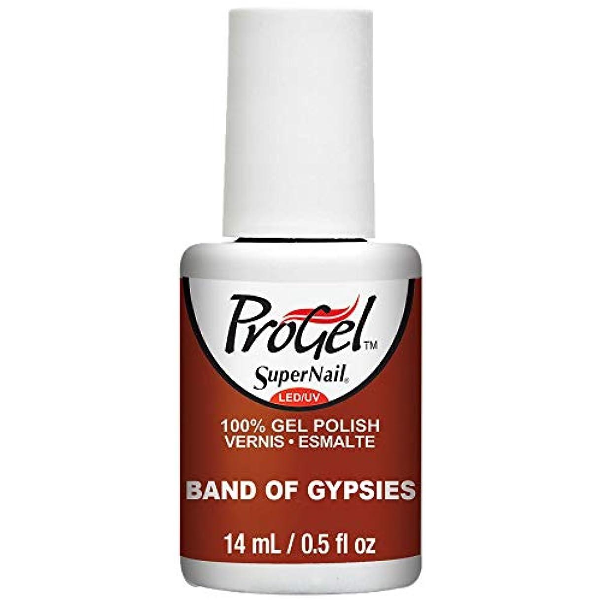 戦い事故注意SuperNail ProGel Gel Polish - Band of Gypsies - 0.5oz / 14ml