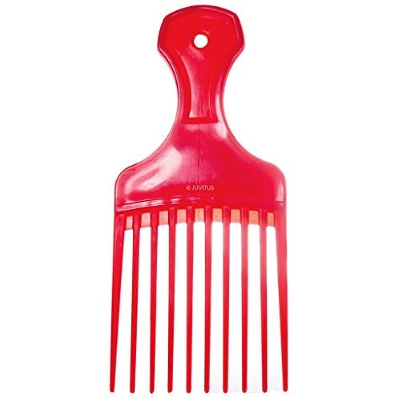 甘い米国明快Pocket Pick Comb - Assorted Colors (Red) [並行輸入品]