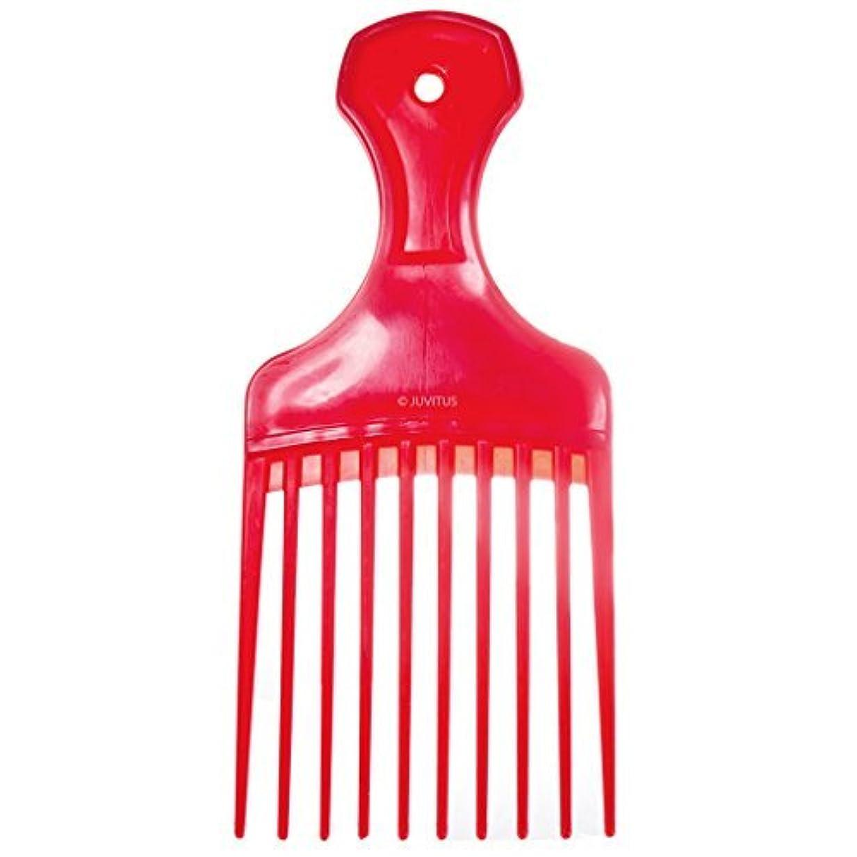 統計的ブリーフケース委員長Pocket Pick Comb - Assorted Colors (Red) [並行輸入品]