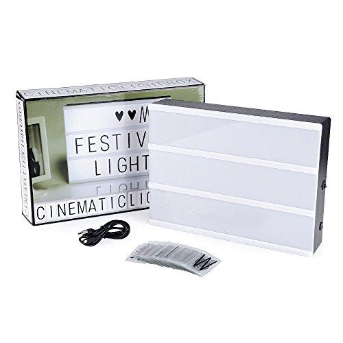 AGM LEDライトボックス 照明 LED LIGHT BOX コンビネーションボックス テーブルランプ 文字LEDライト インテリア ライトボックス90文字 ルミナスボックス 店舗の看板 A4サイズ(30*20*6cm)